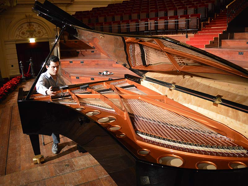 Bosendorfer Phoenix 275 Being Tuned For The Concerts
