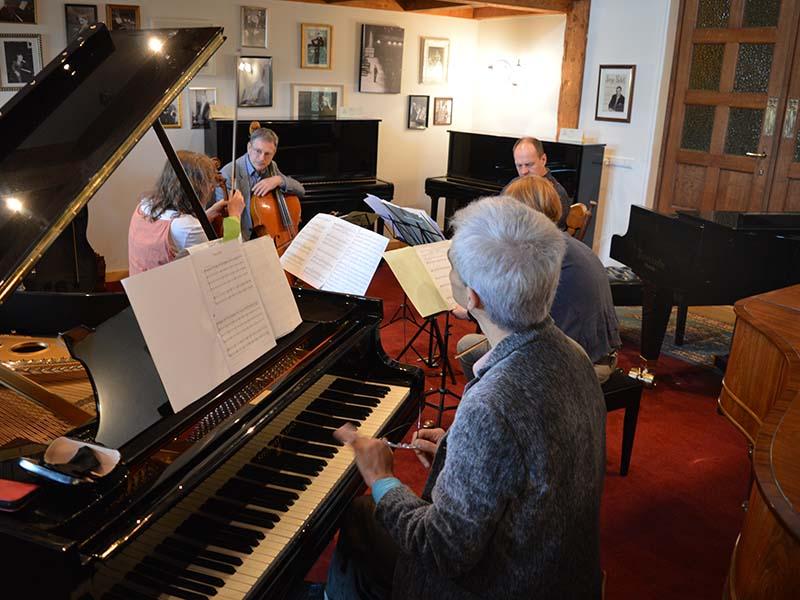 DoelenKwartet Op Bezoek Bij PianoVisions
